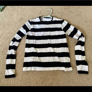 Tibi cropped back long striped sleeves